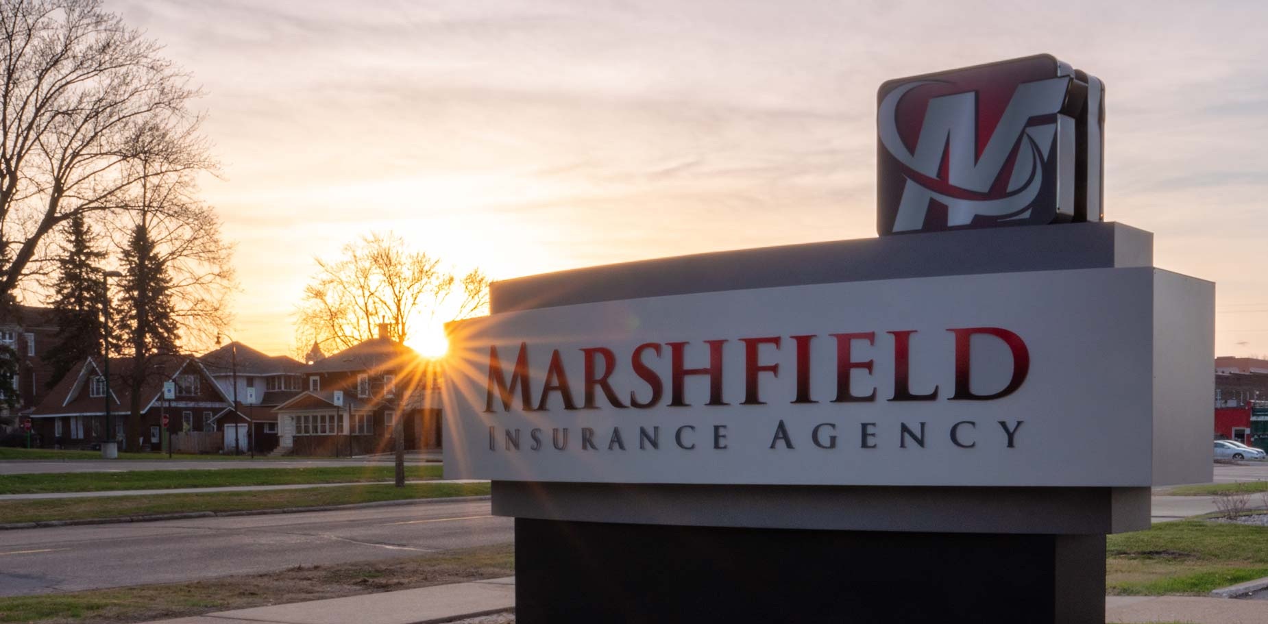 Marshfield Insurance Sign