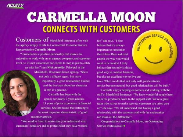 Carmella Moon Connects with Customers